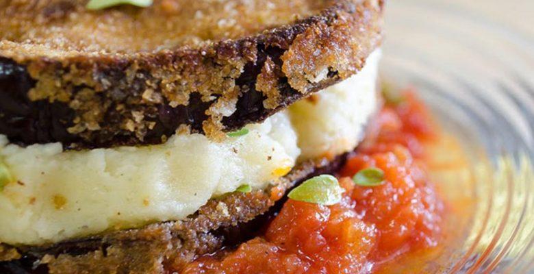 Patlıcanlı Patatesli Diyet Sandviçi