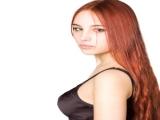 Kızıl Saçlı ve Yeşil Gözlü Bayanlar İçin Göz Farı Gölge